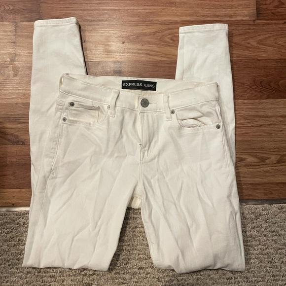 Express white stretchy skinny jeans